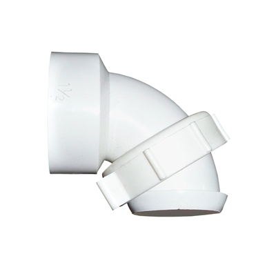 90 Deg PVC Sink Trap Ell w/Nut